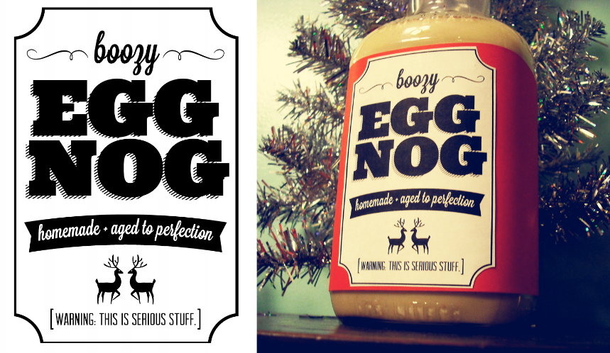 Printable Egg Nog Label