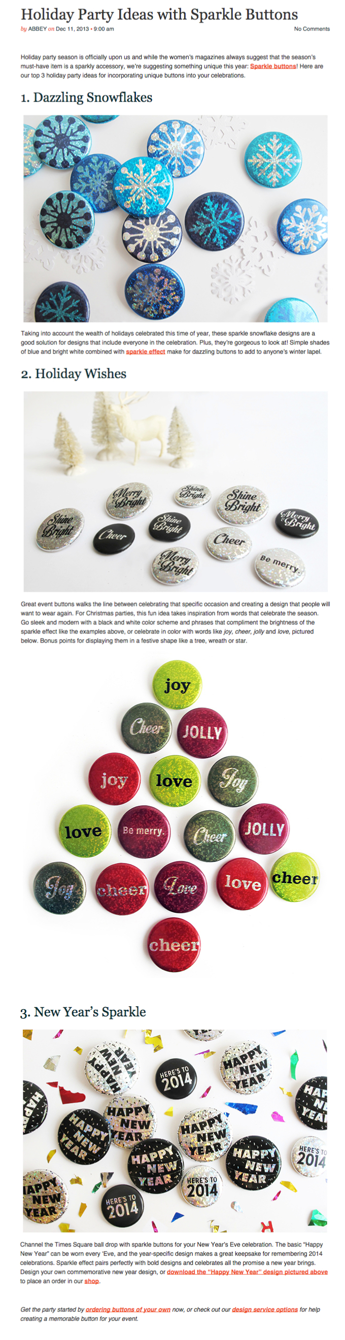 Holiday Button Blog Post