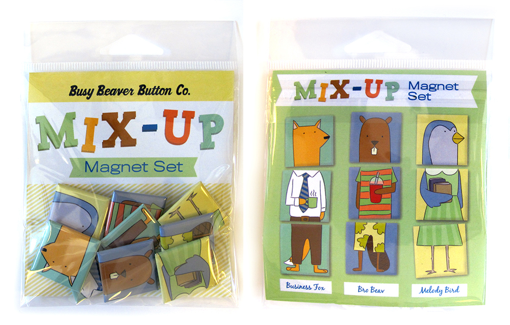 Mix-Up Magnet Pack Character Design by Abbey Hambright