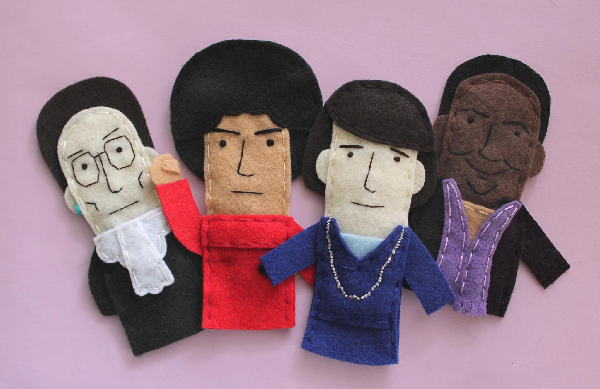 Feminist finger puppets