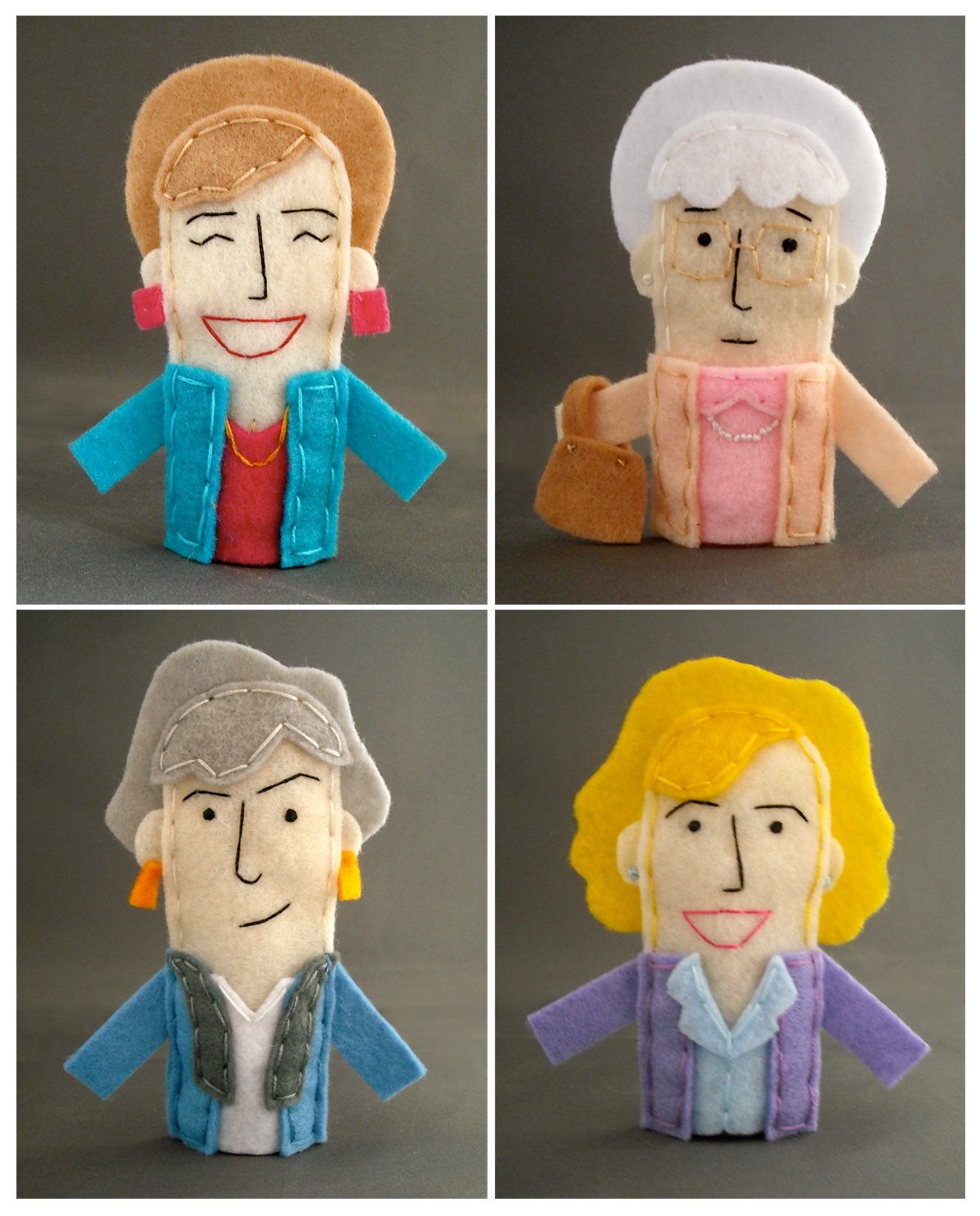 Golden Girls Finger Puppets