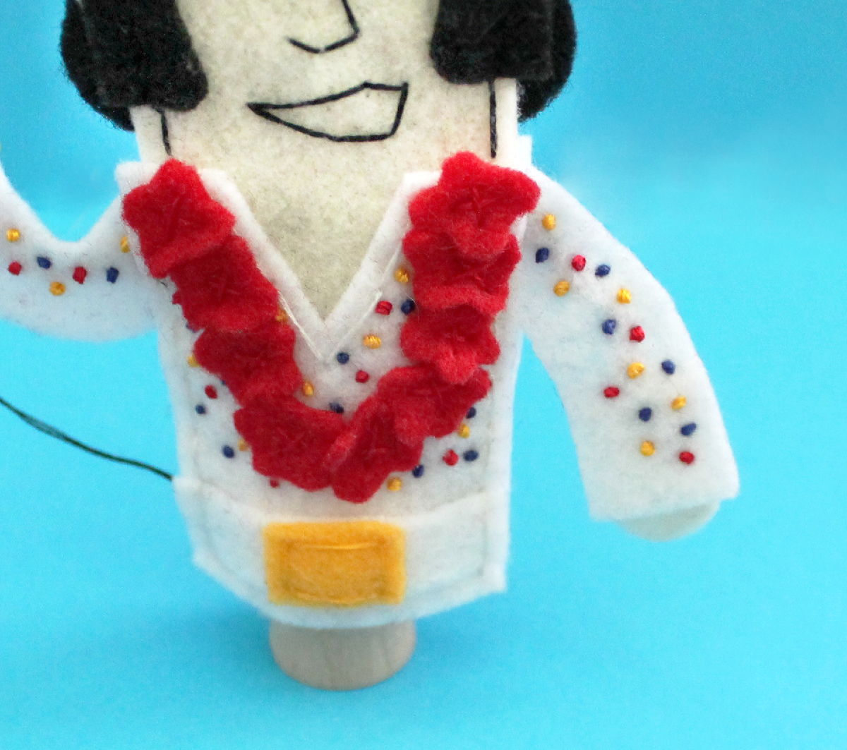 Elvis Finger Puppet detail
