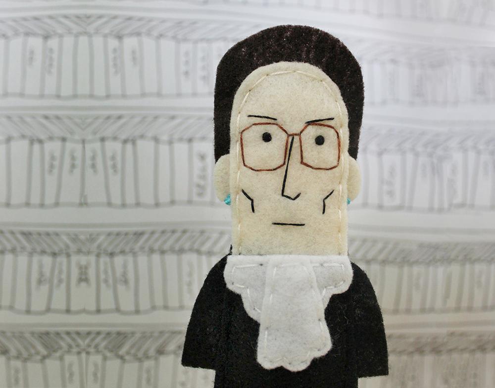 Ruth Bader Ginsburg Finger Puppet